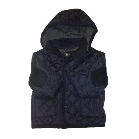 Navy Quilted Jacket With by Mayoral Baby Boys Navy Quilted Jacket With Detachable