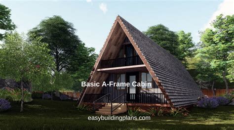 small a frame cabin plans basic a frame cabin easybuildingplans