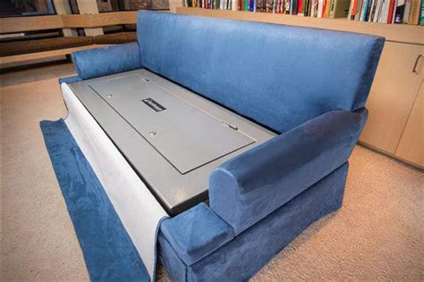 Couchbunker Bulletproof Couch With Gun Safe Men S Gear Sofa Gun Safe