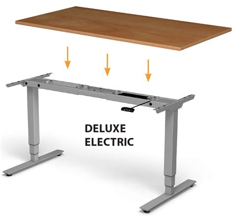 electric adjustable standing desk deluxe electric adjustable height base for standing desk