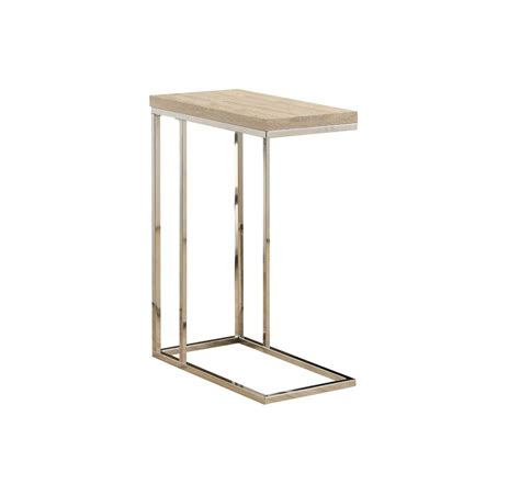 chrome accent tables monarch specialties accent table natural with chrome