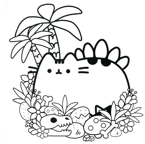 cat coloring sheets pusheen cat printable coloring pages sketch coloring page
