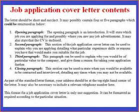 Employment Cover Letter Tips by 10 Format Cover Letter For Application Basic Appication Letter