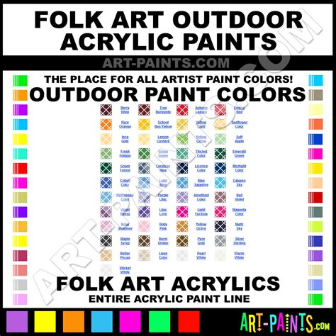 folk outdoor acrylic paint colors folk outdoor paint colors outdoor color outdoor
