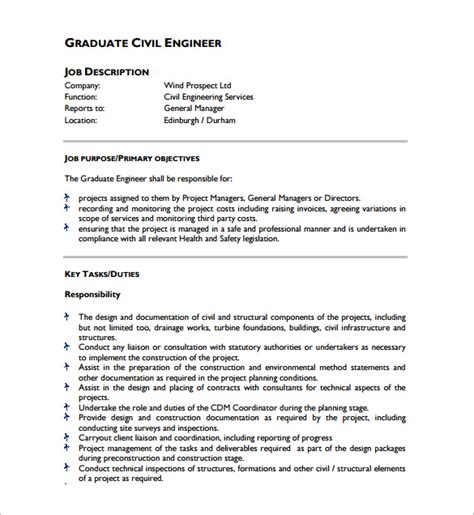 design engineer job responsibilities civil engineer job description template 9 free word