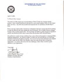 air force letter of recommendation sample best template