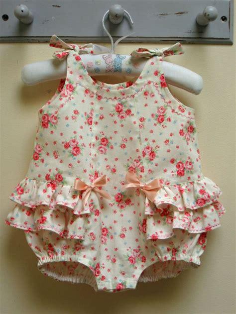 rose pattern jumpsuit rose bud romper baby girls romper pattern sizes 3 mths to