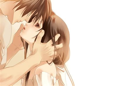 kiss wallpaper for laptop beautiful anime couple kiss hd wallpaper hd wallpapers
