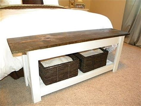 diy end of bed storage bench diy end of bed bench master bedroom pinterest