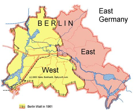 map of east germany a brief history of some walls the berlin wall