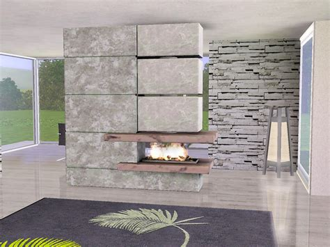 Sims Freeplay Fireplace by Ung999 Fireplace 01