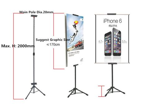 Tripod Banner aliexpress buy pop metal tripod bedframe hanging banner up display telescopic holder