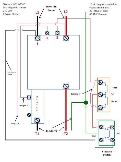 Single Phase Motor Starter Wiring Diagram Elec Eng World
