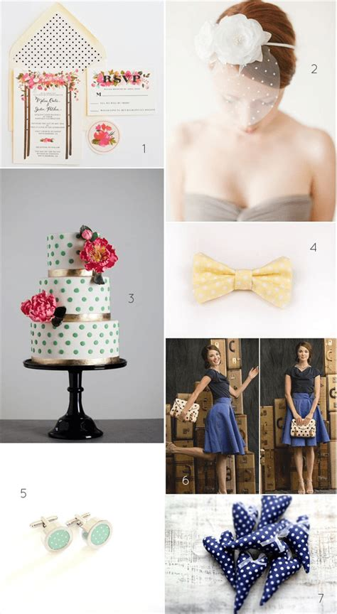 polka dot wedding theme ideas