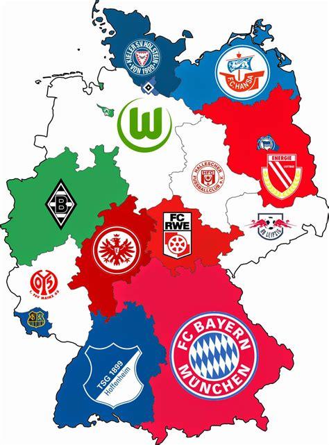 Landkartenblog Fu 223 Ballkarte Deutschland Zeigt Die Erfolgreichsten Vereine Nah Ihrem