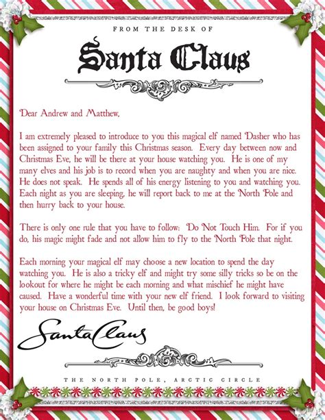 printable elf welcome letter 195 best santa letters images on pinterest xmas holiday