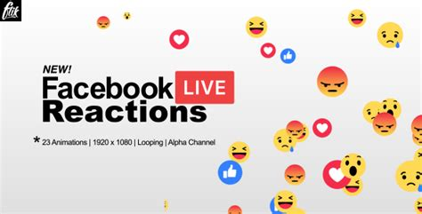 Facebook Live Reactions By Flikmotion Videohive Live Reactions After Effects Template