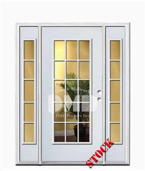 15 Light Exterior Door 15 Lite Clear Glass Steel Exterior Door With Sidelites 6 8 Door And Millwork Distributors Inc
