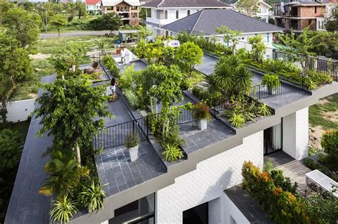 rooftop landscaping rooftop garden house with cozy interiors vtn architects