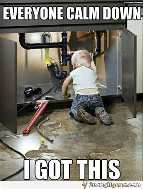 How To Fix A Leaking Kitchen Faucet by A Funny Kid Becomes A Plumber In The Kitchen