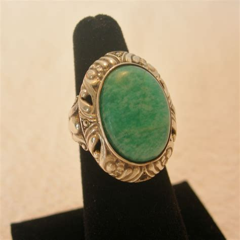 vintage sterling silver turquoise ring from