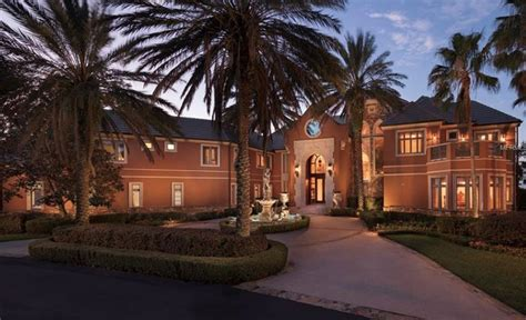 lakefront mansion  orlando florida homes   rich