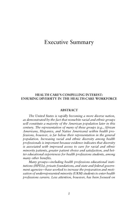 executive summary apa format exle