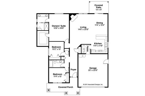 housing blueprints floor plans craftsman house plans logan 30 720 associated designs