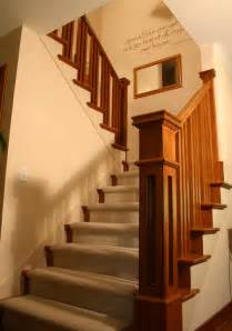 Modern Banister Styles Prairie Style Ranch Remodel Staircase And Railing Detail