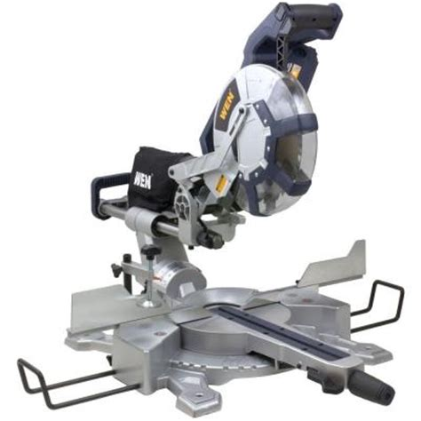 wen 15 10 in dual bevel sliding compound miter saw