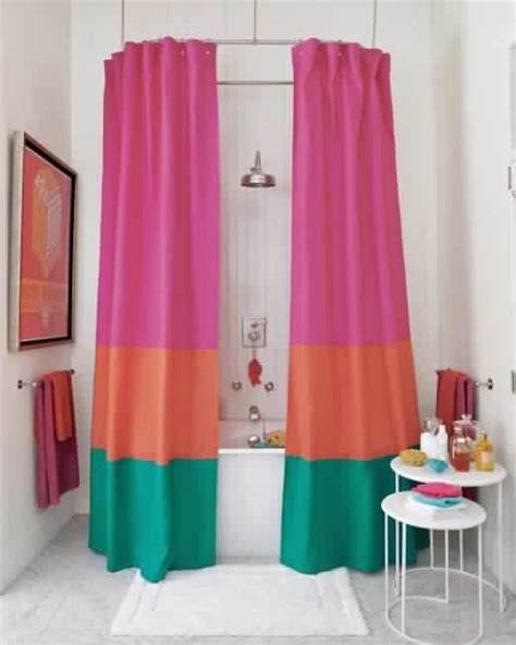 diy no sew shower curtain 10 diy shower curtains sew and no sew diy craft projects