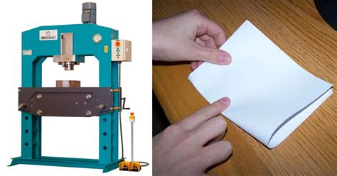 Fold Paper More Than 7 Times - this uses a hydraulic press to fold paper more than