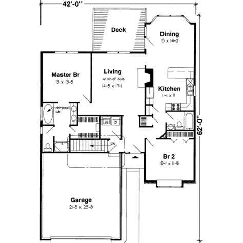 2 bedroom bungalow house floor plans traditional style house plan 2 beds 2 00 baths 1428 sq