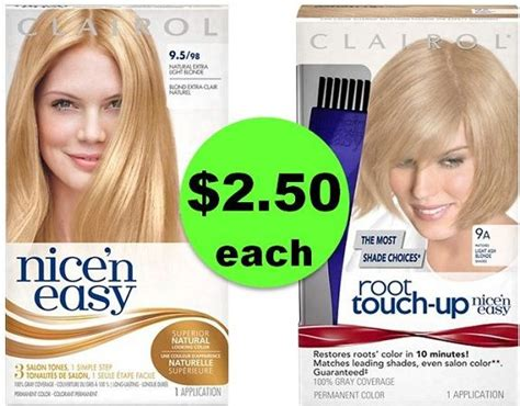 clairol nice n easy hair color only 2 50 at walgreens easy deal on clairol nice n easy root touch up hair