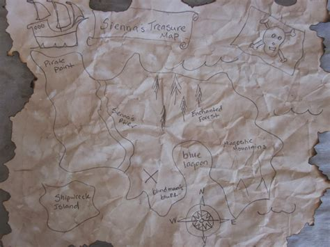 How To Make Treasure Map Paper - princes ponies and diamonds pirate treasure map tea