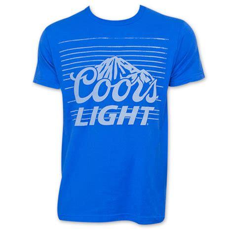 coors light t shirt amazon coors light men s banquet stripe blue tee shirt