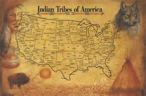 indian tribes map indian tribes of america