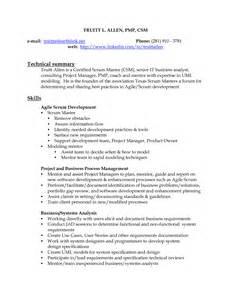 sle resume on agile methodology profile exles best resume templates