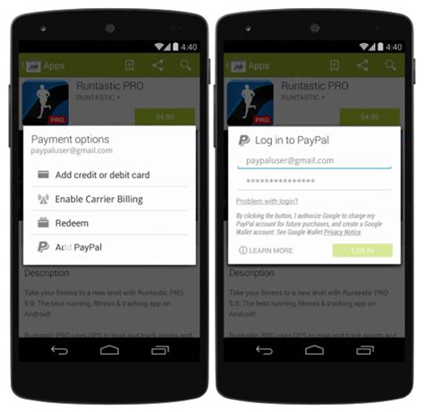 Google Play Gift Card Paypal - google adds paypal support to play store expands carrier billing