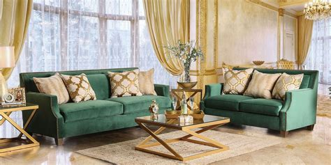Green Living Room Sets Verdante Living Room Set Emerald Green Living Room Sets Living Room Furniture Living Room