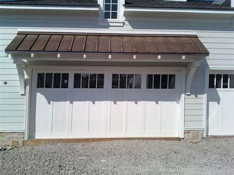 garage door awnings door and overhang carriage house pinterest copper