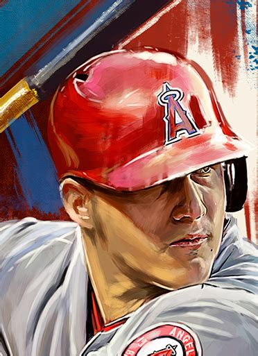 mike trout  illustrated print  behance