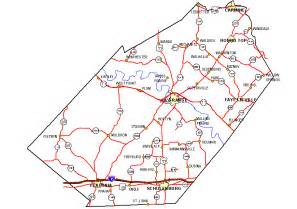 county map with roads county map