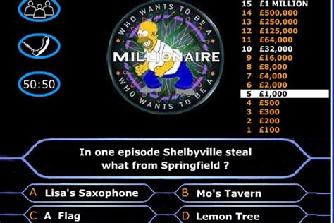 quiz questions games play online simpsons millionaire quiz game quizzes games games loon
