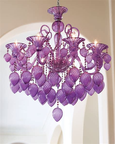 Purple Chandelier Vetro Retro 8 Light 36 Quot Purple Blown Glass And Chandelier Transitional