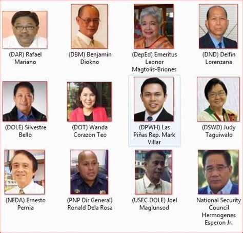 List Of Cabinet Secretaries List Of President Rodrigo Duterte Cabinet Members