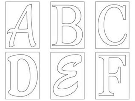 abc template free printable stencil templates letters a z letters in