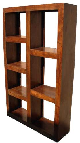 santa fe wood open back bookcase room divider