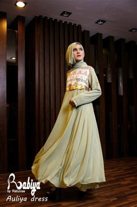 Aulia Gamis Real Picture Kelinci Dress aulia dress hijau baju muslim gamis modern