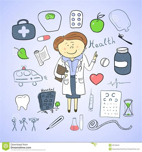 doodle do doctor who health icons doodle ilustration doctor royalty